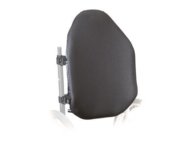 Adjustable tall back support for wheelchair users with moderate to maximum support needs.
