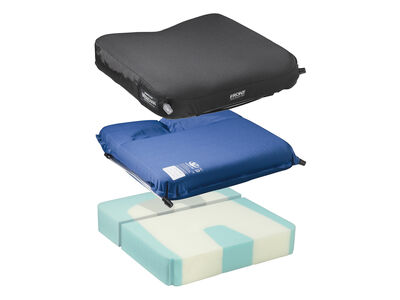 The Meridian is a dual-chambered, adjustable skin protection cushion, ideal for prevention of sacral sitting.