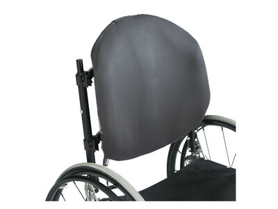 Adjustable back support for wheelchair users with moderate to maximum support needs