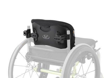 Pelvic and lumbar support for a user with good trunk control.